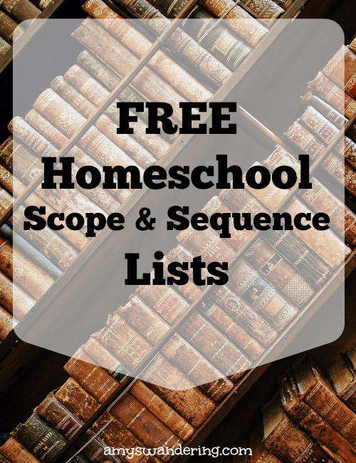 Free Homeschool Scope & Sequence Lists