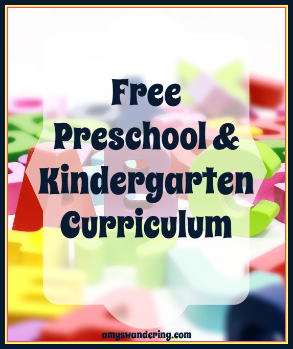 Free Preschool and Kindergarten Curriculum