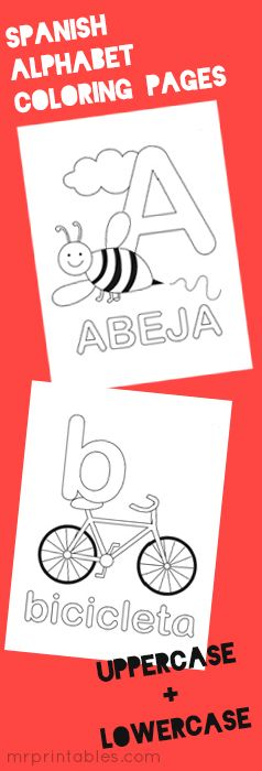 Coloring Pages Spanish Alphabet : Alphabet coloring pages amy s wandering