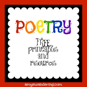 free poetry printables