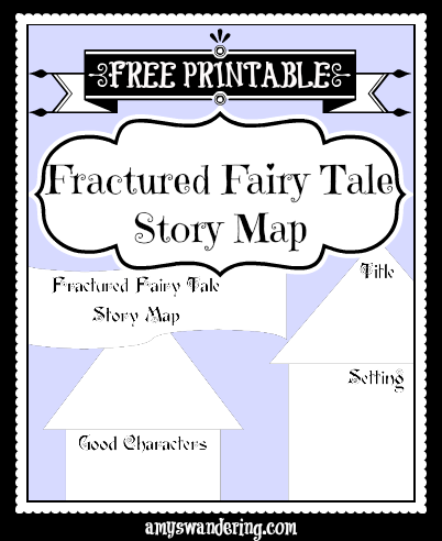 fractured fairy tale story map
