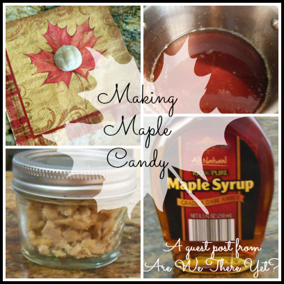 making maple candy