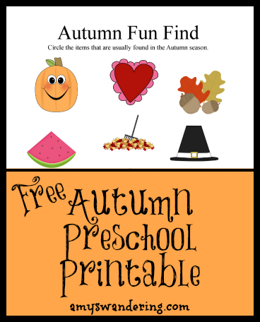 autumn fun find printable