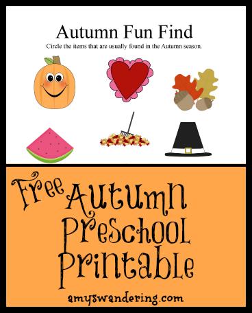 autumn fun find printable