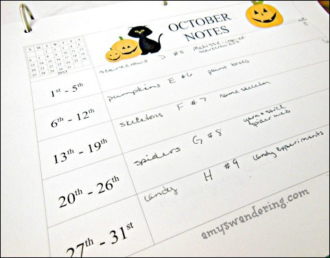 monthly notes