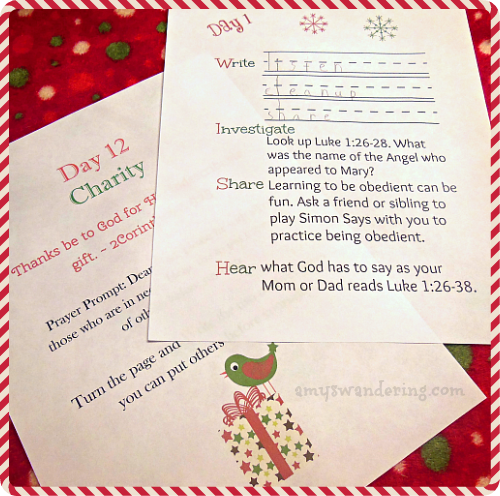Review My Christmas Wish List Devotional Prayer Journal for Kids – Sample Christmas List