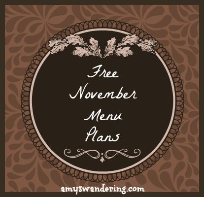 november menu plans