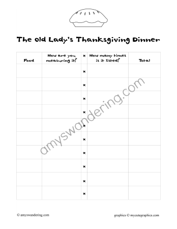 The Old Lady's Thanksgiving Dinner sample