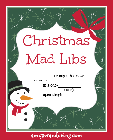 Christmas Mad Libs - Amy's Wandering