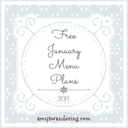 free january 2014 menu plans