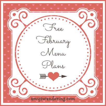 free february menu plans