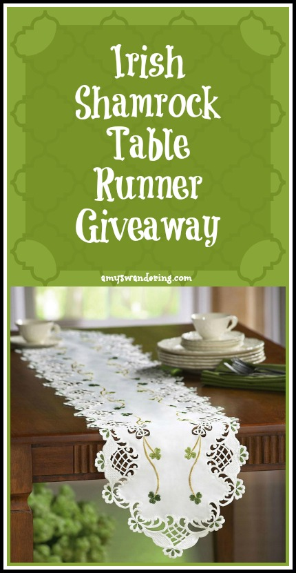 Irish table runner giveaway