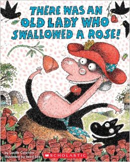 there was an old lady who swallowed a rose