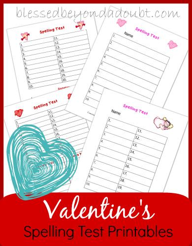 Valentines-Spelling-Test-Printables