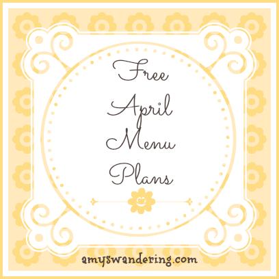 Free April Menu Plans