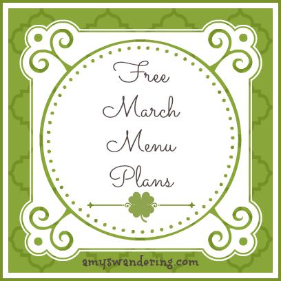march menu plans