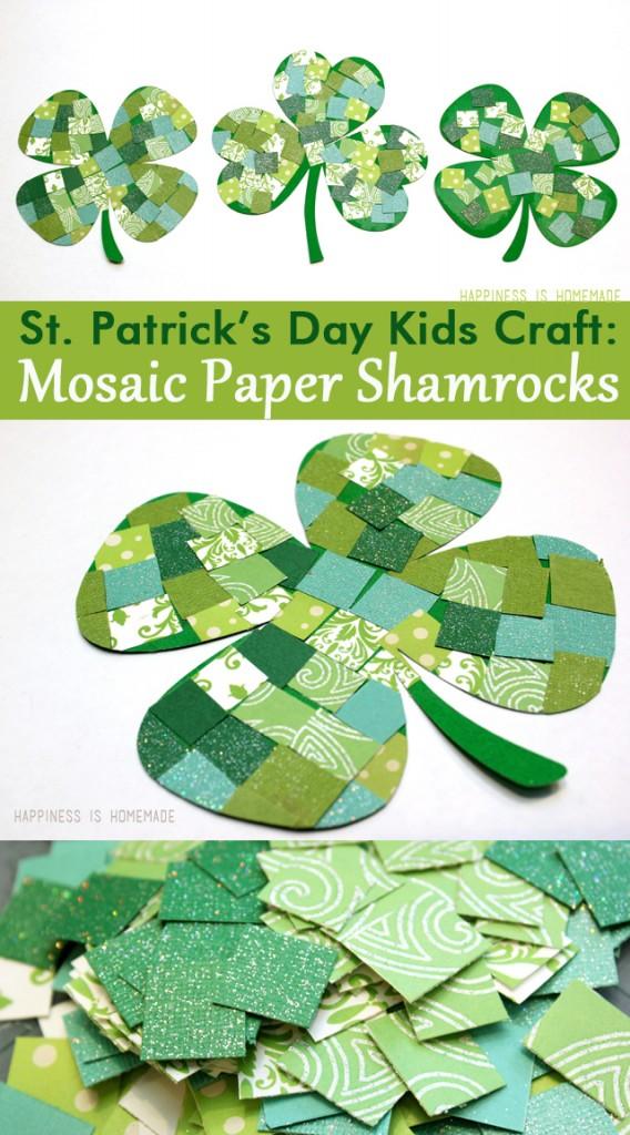 Mosaic-Paper-Shamrocks