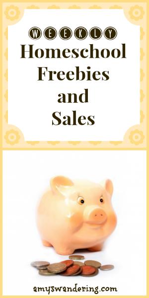 weekly homeschool freebies and sales