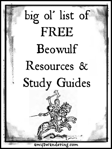 Free beowulf resources and study guides amy 39 s wandering for Beowulf coloring pages