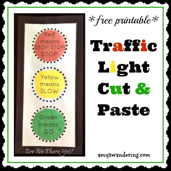 FREE Traffic Light Cut & Paste Printable