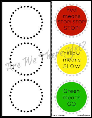traffic light words printable