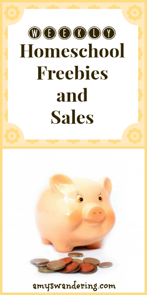 weekly homeschool freebies and sales