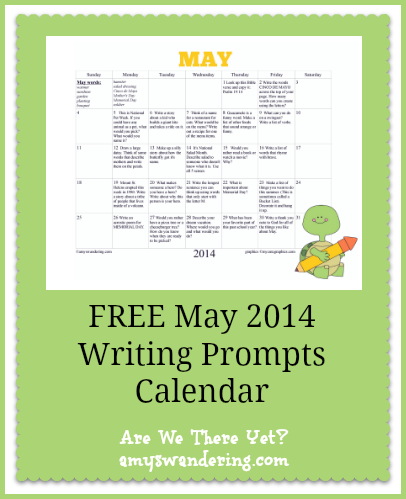 FREE May 2014 Writing Prompts Calendar