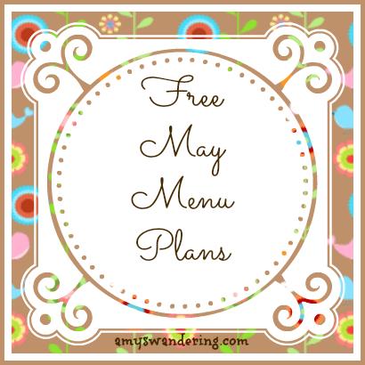 Free May Menu Plans