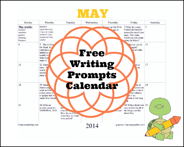 May Writing Prompts Calendar
