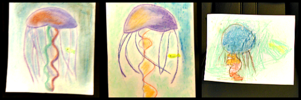 chalk pastel jellyfish