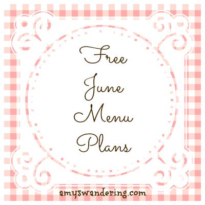 Free June 2014 Menu Plans