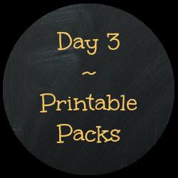 Day 3 Printable Packs