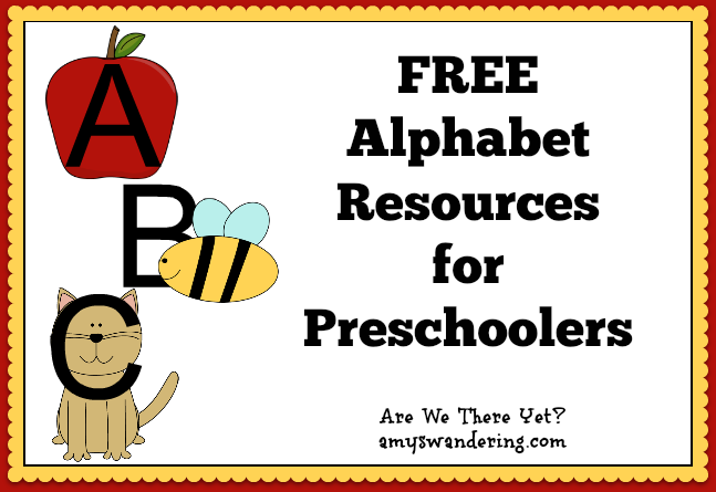 Free Alphabet Resources for Preschoolers