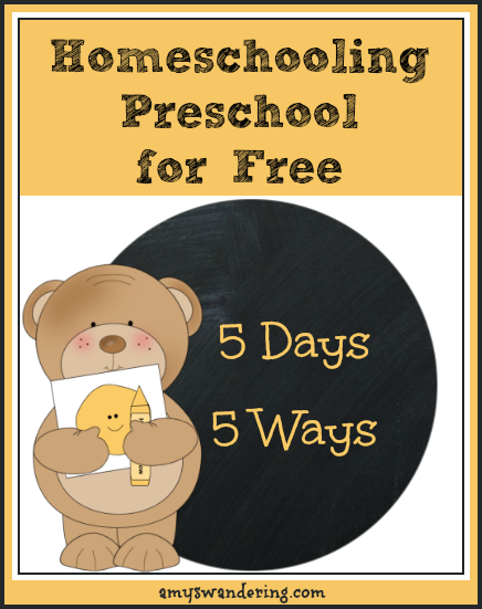 Homeschooling Preschool for Free