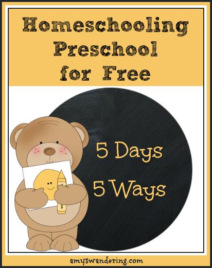 Homeschooling Preschool for Free