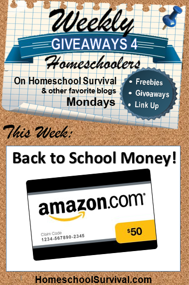 Back to School Money - $50 Amazon card