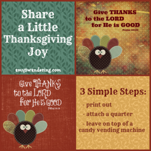 Share a Little Thanksgiving Joy with these Give Thanks cards