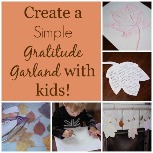 leaf gratitude garland