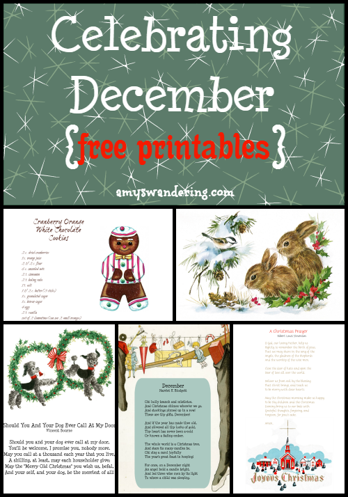 Celebrating December Printables