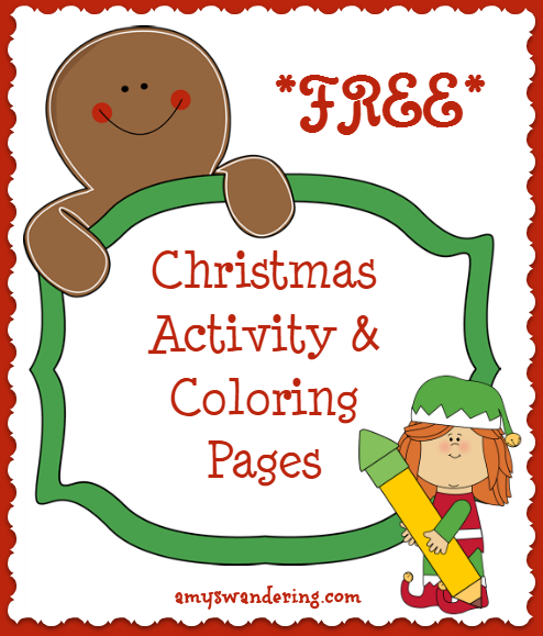 Free Christmas Activity Coloring Pages
