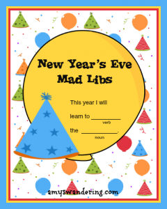 New Year's Eve Mad Libs