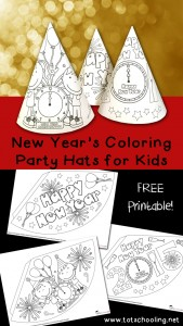 coloring party hats