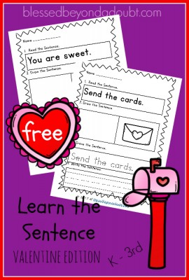Learn-the-sentence-valentine