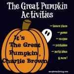 The Great Pumpkin Activities