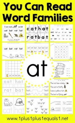 at-Word-Family-Printables