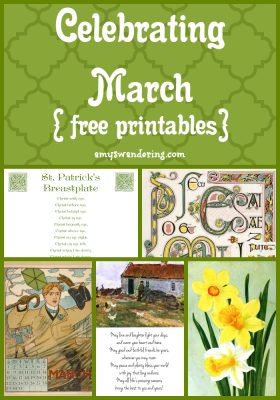 Celebrating March Printables