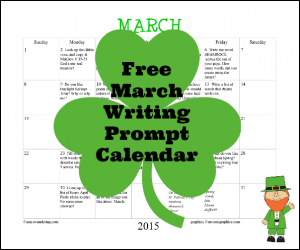 Free March Writing Prompt Calendar