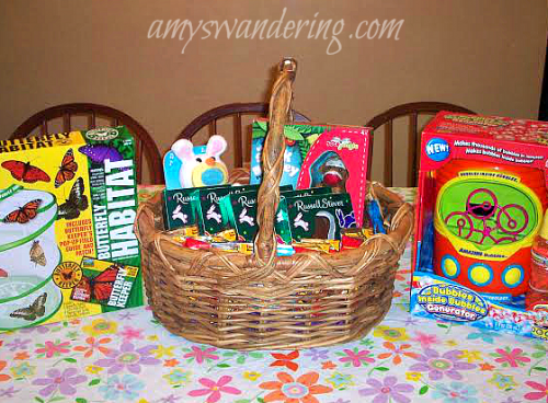 Large family easter baskets amys wandering large family easter basket negle Choice Image