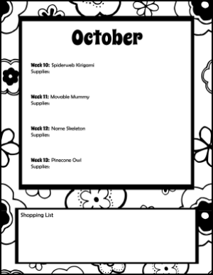 300 BW Craft Planner October