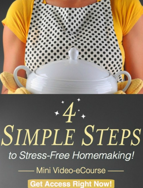 FREE Stress-Free Homemaking eCourse & Printables